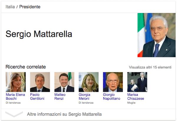 Sergio Mattarella - Google AI