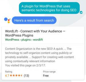 Assistente Google per Wordlift