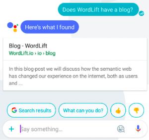Halo Voice Search | WordLift