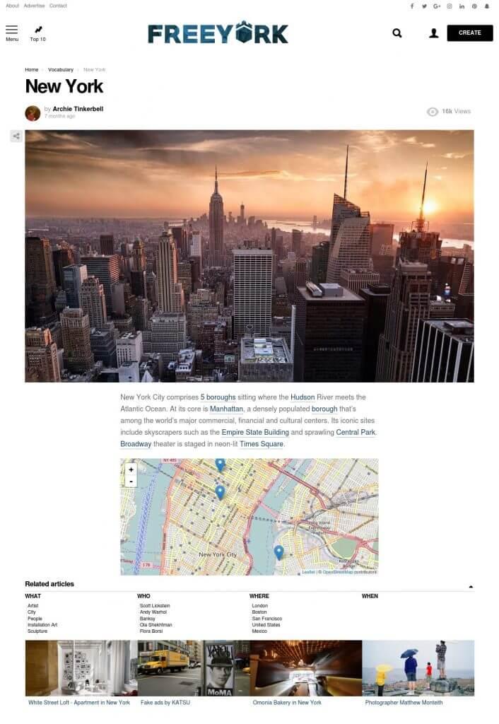 FREEYORK's entity - New York
