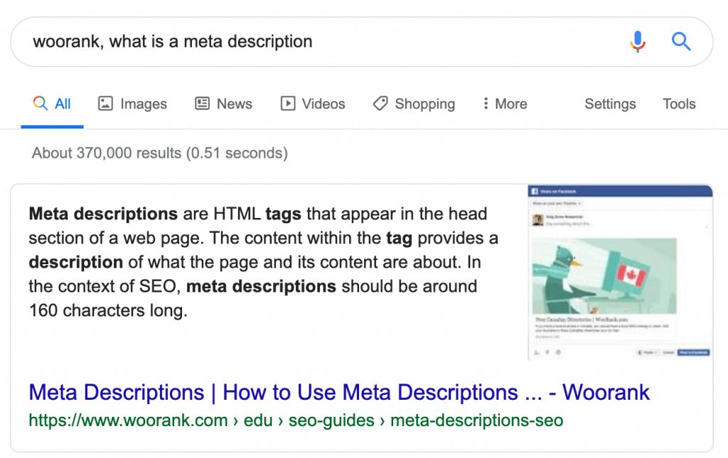 meta description definition