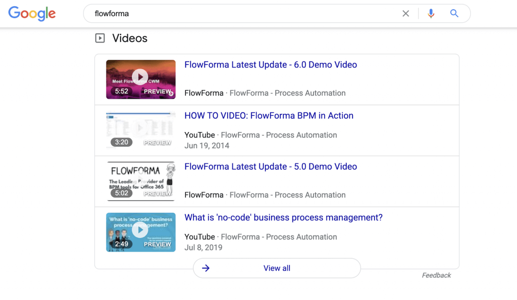 Yes, you can get your site to rank for videos on your Brand SERP