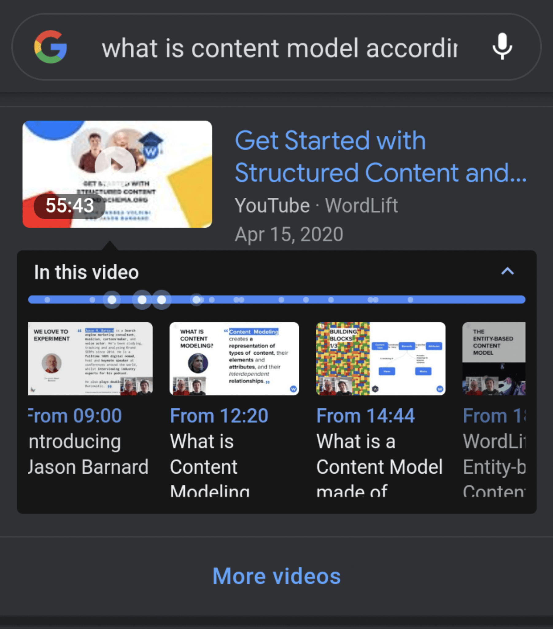 Video Key Moments on Google Search